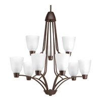 Progress Asset 9 Light Chandelier in Antique Bronze P4173-20WB