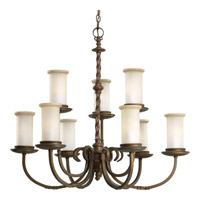 Santiago 9 Light 32 inch Roasted Java Chandelier Ceiling Light