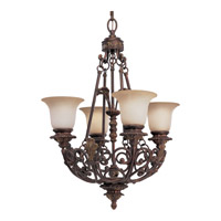 Progress Lighting Thomasville Messina 4 Light Chandelier in Aged Mahogany P4191-75
