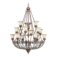 Progress Lighting Thomasville Messina 15 Light Chandelier in Aged Mahogany P4192-75