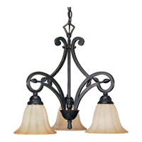 Le Jardin 3 Light 20 inch Espresso Chandelier Ceiling Light