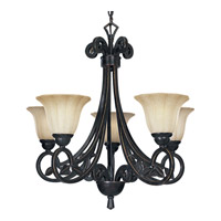 Le Jardin 5 Light 26 inch Espresso Chandelier Ceiling Light