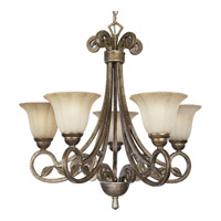 Progress Lighting Le Jardin 5 Light Chandelier in Biscay Crackle P4201-91C