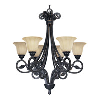 Le Jardin 6 Light 28 inch Espresso Chandelier Ceiling Light