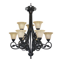 Le Jardin 9 Light 32 inch Espresso Chandelier Ceiling Light