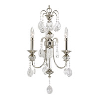 Progress Lighting Thomasville Noir 3 Light Chandelier in Polished Nickel P4208-104