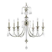 Noir 6 Light 29 inch Polished Nickel Chandelier Ceiling Light