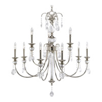 Progress Lighting Thomasville Noir 9 Light Chandelier in Polished Nickel P4210-104