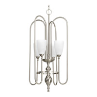 Progress Revive 4 Light Foyer Pendant in Brushed Nickel P4227-09