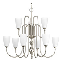 Progress Revive 9 Light Chandelier in Brushed Nickel P4236-09