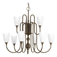 Progress Revive 9 Light Chandelier in Antique Bronze P4236-20