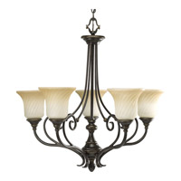 Progress Lighting Kensington 5 Light Chandelier in Forged Bronze P4238-77