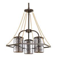 Progress P4248-20 Indi 3 Light 18 inch Antique Bronze Chandelier Ceiling Light