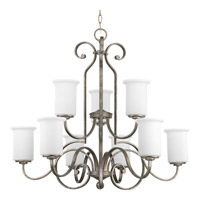 Progress P4250-144 Stroll 9 Light 32 inch Pebbles Tier Chandelier Ceiling Light