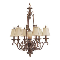 Progress Lighting Thomasville Beaumont 6 Light Chandelier in Golden Brandy Crackle P4253-02C
