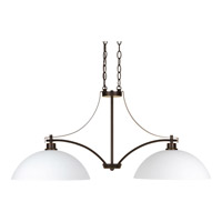 Progress P4254-20 Legend 2 Light 36 inch Antique Bronze Linear Chandelier Ceiling Light