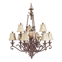 Progress Lighting Thomasville Beaumont 10 Light Chandelier in Golden Brandy Crackle P4256-02C