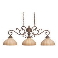 Progress Lighting Thomasville Beaumont 3 Light Chandelier in Golden Brandy Crackle P4259-02C
