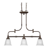 Progress Lighting Renovations 3 Light Chandelier in Forged Bronze P4269-77