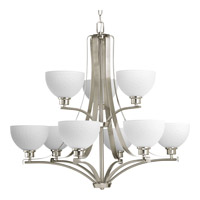 Progress Legend 9 Light Chandelier in Brushed Nickel P4272-09