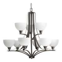 Progress Legend 9 Light Chandelier in Antique Bronze P4272-20