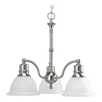 Madison 3 Light 22 inch Brushed Nickel Chandelier Ceiling Light