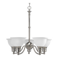 Madison 5 Light 25 inch Brushed Nickel Chandelier Ceiling Light
