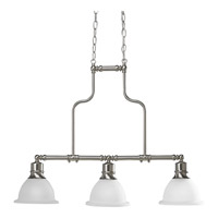 Madison 3 Light 8 inch Brushed Nickel Chandelier Ceiling Light