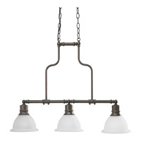 Madison 3 Light 8 inch Antique Bronze Chandelier Ceiling Light