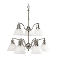Madison 9 Light 29 inch Brushed Nickel Chandelier Ceiling Light