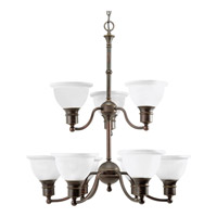 Madison 9 Light 29 inch Antique Bronze Chandelier Ceiling Light