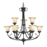 Progress Lighting Timberbrook 9 Light Chandelier in Espresso P4287-84 photo thumbnail
