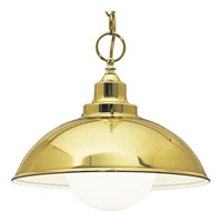 Progress Lighting Metal Shade 1 Light Pendant in Polished Brass P4295-10