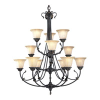 Progress Lighting Timberbrook 12 Light Chandelier in Espresso P4300-84