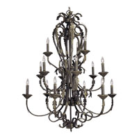 Progress Lighting Palmero 15 Light Chandelier in Weathered Bronze P4313-46