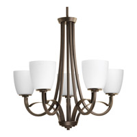 Progress Merge 5 Light Chandelier in Antique Bronze P4316-20