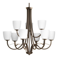 Progress Merge 9 Light Tier Chandelier in Antique Bronze P4317-20