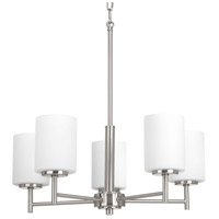 Replay 5 Light 21 inch Brushed Nickel Chandelier Ceiling Light