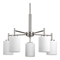 Progress Replay 5 Light Chandelier in Polished Nickel P4319-104