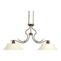 Progress Lighting Applause 2 Light Linear Chandelier in Antique Bronze P4321-20