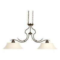 Progress P4321-20 Applause 2 Light 36 inch Antique Bronze Linear Chandelier Ceiling Light