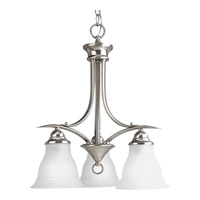 Progress Lighting Trinity 3 Light Chandelier in Brushed Nickel P4324-09EBWB