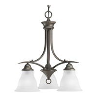 Trinity 3 Light 19 inch Antique Bronze Chandelier Ceiling Light in Bulbs Included, Fluorescent