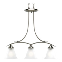 Progress Lighting Trinity 3 Light Chandelier in Brushed Nickel P4325-09EBWB