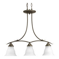 Progress Lighting Trinity 3 Light Chandelier in Antique Bronze P4325-20EBWB