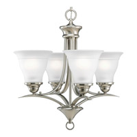 Progress P4326-09 Trinity 4 Light 19 inch Brushed Nickel Chandelier Ceiling Light