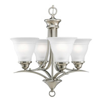 Progress Lighting Trinity 4 Light Chandelier in Brushed Nickel P4326-09EBWB