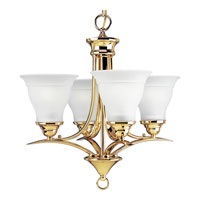 Progress Lighting Trinity 4 Light Chandelier in Polished Brass P4326-10