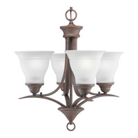 Progress Lighting Trinity 4 Light Chandelier in Cobblestone P4326-33