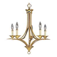 Progress Lighting Trinity 5 Light Chandelier in Polished Brass P4327-10